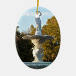 Savannah Georgia Forsyth Park Fountain Christmas Ornament
