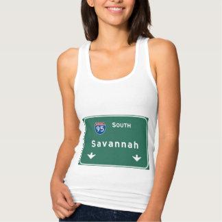 Savannah Georgia ga Interstate Highway Freeway : Tank Top