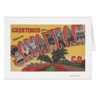 Savannah, Georgia (Historic) - Large Letter Card