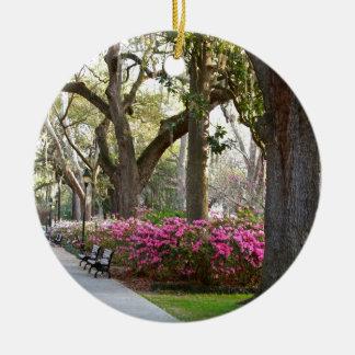 Savannah Georgia in Spring Forsyth Park Azaleas Oa Christmas Ornament