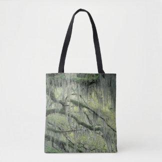 Savannah, Georgia, Live Oak tree draped with Tote Bag