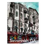 Savannah Georgia River Street art drawing Postcard