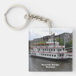 Savannah Georgia Riverboat Key Ring