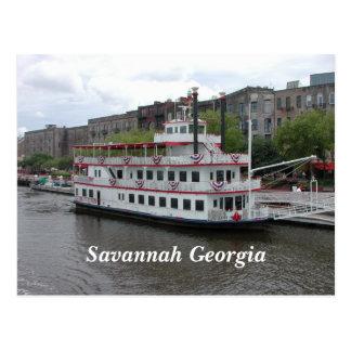 Savannah, Georgia riverfront Postcard