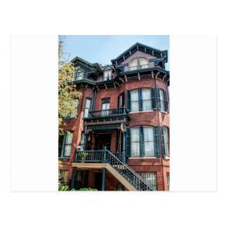 Savannah Georgia Victorian Historical House Postcard