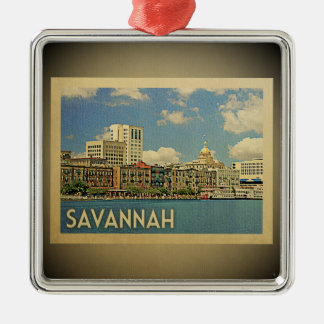 Savannah Georgia Vintage Travel Ornament