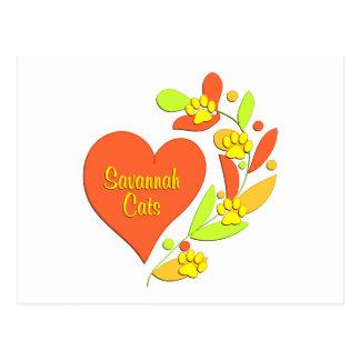 Savannah Heart Postcards