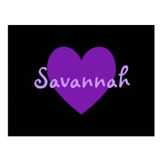 Savannah in Purple Post Card