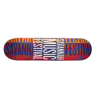 Savannah Music Festival Skate Board