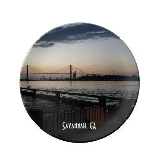 Savannah River on River Street Photo Plate