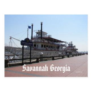 Savannah Riverboats Post Card