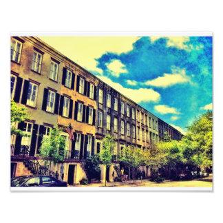 Savannah Row Houses Photograph
