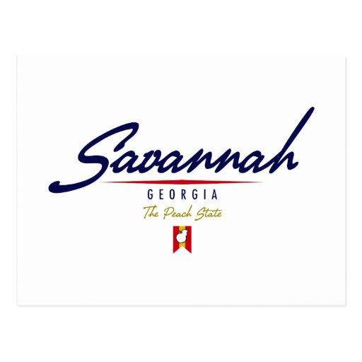 Savannah Script Postcard