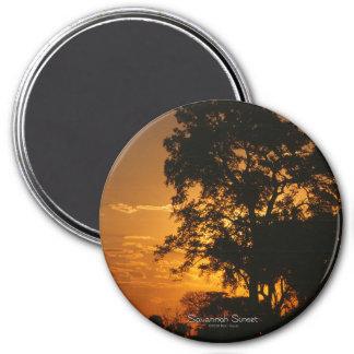 Savannah Sunset 7.5 Cm Round Magnet