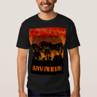 savannah t shirt for men african theme