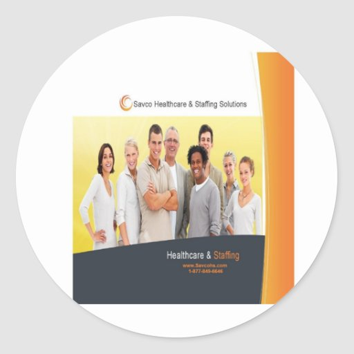 Savco Healthcare Promotional Products Round Sticker