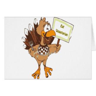 Save a bird......Eat vegetarian Card