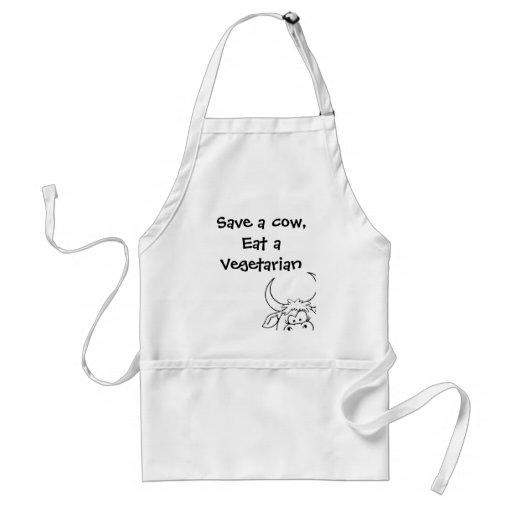 Save a cow, eat a vegetarian apron