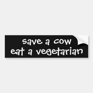 save a cow eat a vegetarian car bumper sticker