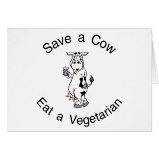 Save a Cow Eat A Vegetarian Card