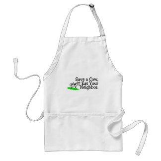 Save a Cow Eat Your Neighbour Standard Apron