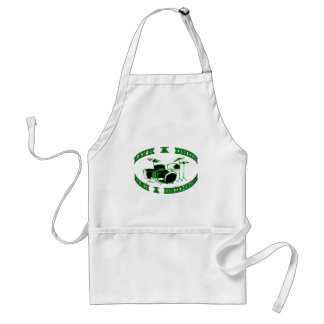 Save a Drum - Bang a Drummer in green Aprons