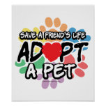 Save A Friend Adopt A Pet Poster