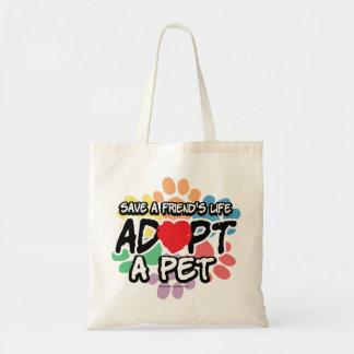Save A Friend Adopt A Pet Tote Bag