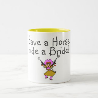Save a Horse Ride a Bride Two-Tone Mug