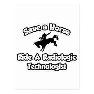 Save a Horse, Ride a Radiologic Technologist Postcard
