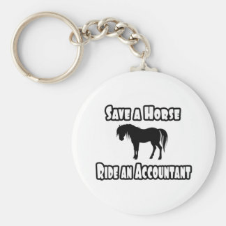 Save a Horse, Ride an Accountant Basic Round Button Key Ring