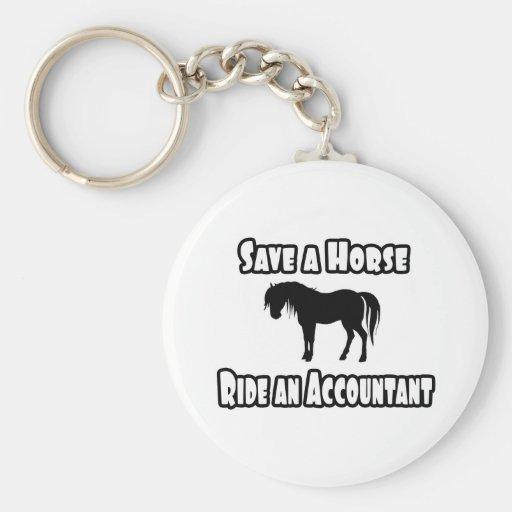 Save a Horse, Ride an Accountant Key Chain