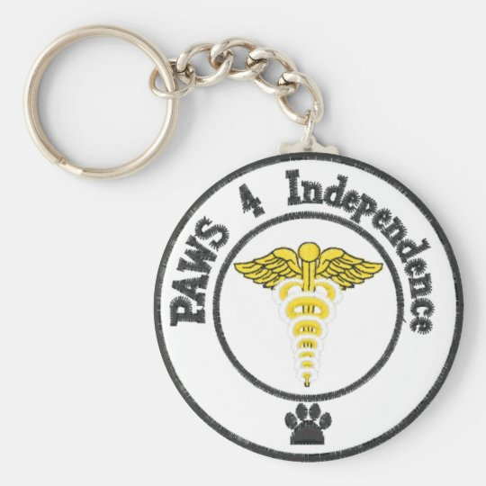 Save a human, support a service dog basic round button key ring