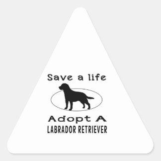 Save a life adopt a Labrador Retriever Stickers