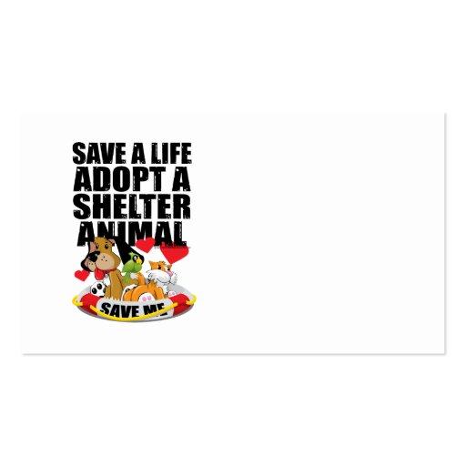 Save A Life Adopt A Shelter Animal Business Card Templates