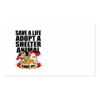 Save A Life Adopt A Shelter Animal Pack Of Standard Business Cards
