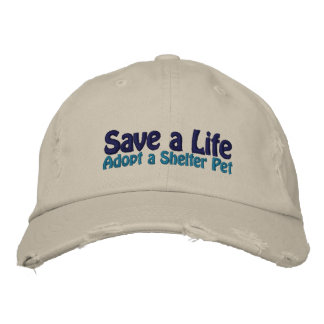 Save a Life - Adopt a Shelter Cat Embroidered Baseball Caps