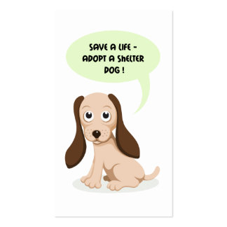 Save a life adopt a shelter dog business card