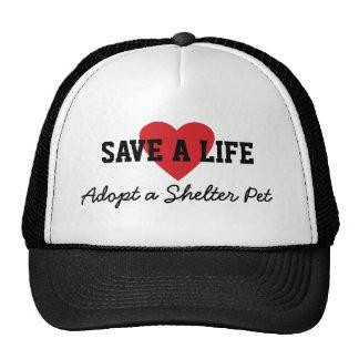 Save a Life-Adopt a Shelter Pet Cap