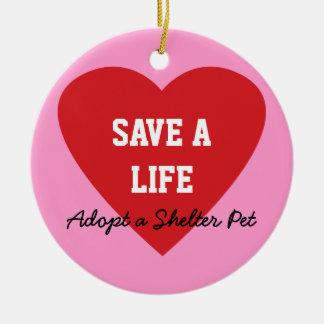 Save a Life-Adopt a Shelter Pet Christmas Ornament