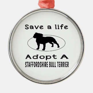 Save a life adopt a Staffordshire Bull Terrier Christmas Tree Ornaments