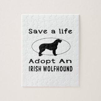 Save a life adopt an Irish Wolfhound Jigsaw Puzzles