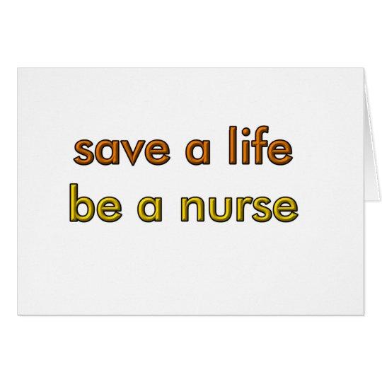 Save a Life Card