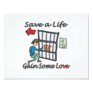 Save A Life Cat Adoption 11 Cm X 14 Cm Invitation Card