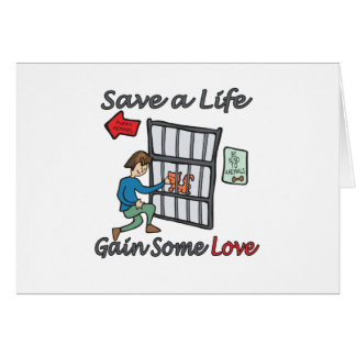 Save A Life Cat Adoption Greeting Cards