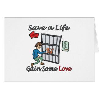 Save A Life Cat Adoption Greeting Cards