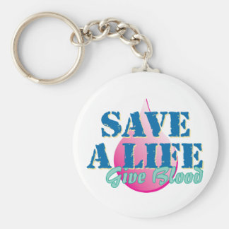 Save a Life - Give Blood Basic Round Button Key Ring