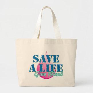 Save a Life - Give Blood Jumbo Tote Bag