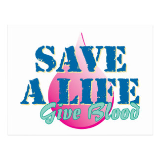 Save a Life - Give Blood Postcard