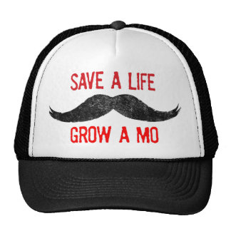 Save A Life - Grow A Mo - Cancer Awareness Cap